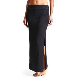 Athleta Serafina Black Maxi Skirt Medium